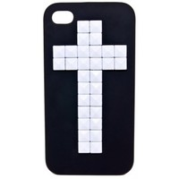 BLACK MATTE WHITE STUD CROSS IPHONE 4/4S + 5 CASE. - BEST SELLERS