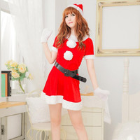 Women's Sexy Lingerie Suits Temptations Christmas Party Dress New Sexy Red Strap Role Play Performance Adult Sexy Clothes 40271