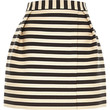 River Island Womens Navy stripe smart woven wrap front mini skirt