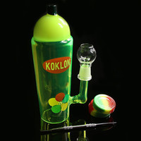 20CM Colored pipe glass bong Water pipe Glass Bongs Recycler Filter Percolators Smoking jiont 14.4MM