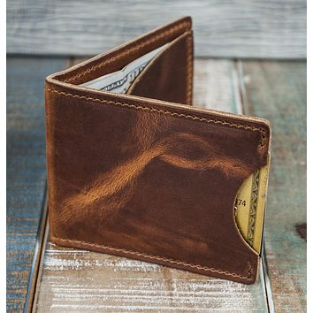 3-Slot Front Pocket Card Sleeve Wallet - 21st Amendment (Horween Dublin Leather)