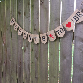 Baby Shower Banner Sign - Custom Burlap Baby Shower Banner - Burlap Parents To Be Banner Sign - Burlap Baby Shower - Annoncement Photo Sign