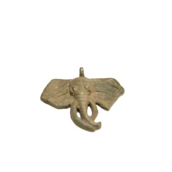 Vintage African Bronze Elephant Charm