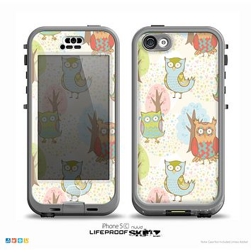 The Various Cartoon Owls Pattern Skin for the iPhone 5c nüüd LifeProof Case