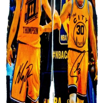 Golden State Warriors Steph Curry Clay Thompson NBA Superstar Design Socks