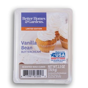Better Homes and Gardens 2018 Limited Edition Vanilla Bean Buttercream Wax Cubes