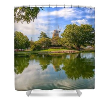 Dutch Mill Shower Curtain for Sale by Liane Wright