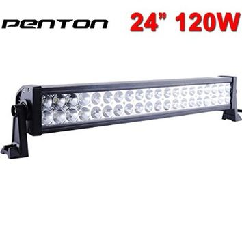 "Penton 160w 24"" Inch Led Light Bar Work Lights Flood Spot Combo Beam Waterproof Dc 10v-30v 3w*40 12000 Lumen for 4wd SUV UTE Offroad Truck ATV UTV"