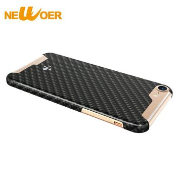 For iPhone 7 100% Real Carbon Fiber Case 4.7 inch Phone Cover Case With Tempered Glass Screen Protector