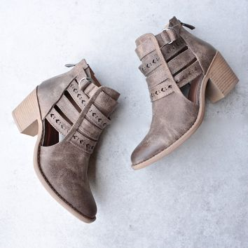 Ashley western inspired cut out booties
