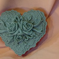christmas soap - love soap - heart soap - flower soap - victorian christmas - gift for her - handmade soap - Pick your Color and Fragrance