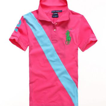 NEW POLO RALPH LAUREN SHIRT WOMEN SHORT SLEEVE T-SHIRT SIZE: S-XL-9