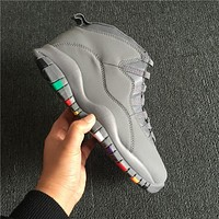 Air Jordan 10 Retro Gray Sneakers