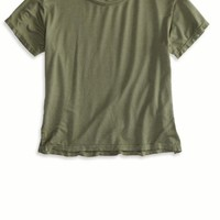 AEO Women's Don't Ask Why Cropped T-shirt