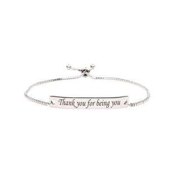 Fully Adjustable Inspirational Slider Bracelet  - BEING YOU