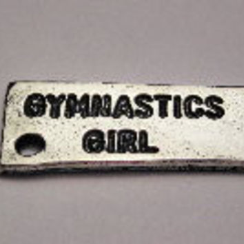 Gymnastics Girl Genuine American Pewter Charm