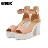 New Arrival Summer Shoes Wrap Open Toe Fashion Women Ankle Strap Sandals Thick Heel Platform Women Sandals Size 34-43 PA00776