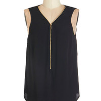 ModCloth Urban Mid-length Sleeveless Affixed on You Top