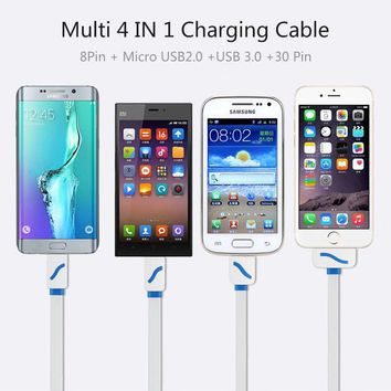 Cell Phone Charger with 4 in 1 Adapters for Samsung Iphone Android Sony