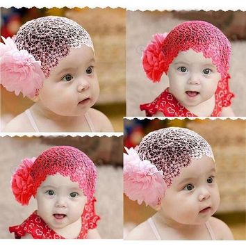 ESB1ON Kid Girl Newborn  Cute Elastic Headband Flower Hairband Hair Accessories