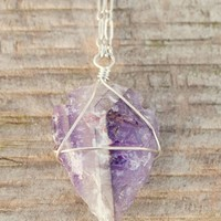Amethyst arrowhead necklace