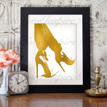 "Printable Art ""SIX INCH GOLD"" Gold Typography Art Print Dorm Decor Wall Art Typography Poster Inspirational Quote Home Decor Apartment Decor"