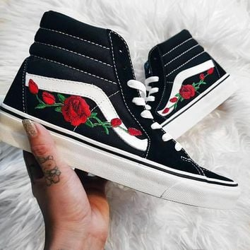 2018 Original Vans & AMAC Customs Rose Embroidered casual shoes