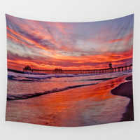 Huntington Beach Sunset 3/15/15 Wall Tapestry by John Minar Fine Art Photography