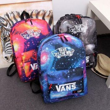 DCCK8H2 VANS Galaxy Casual School Shoulder Bag Satchel Laptop Bookbag Backpack