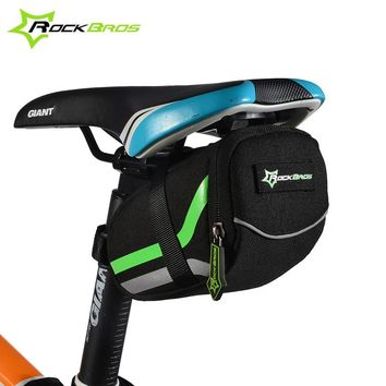 ROCKBROS Bicycle Bag Mountain Road Bike Saddle Bags Anti-scratch Cycling Riding Seat Post Rear Panniers Bicycle Accessories MTB