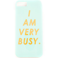 "Graphic Print iPhone 5/5S Case - ""Blah Blah"" or ""I Am Very Busy"""