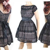 Plus Size Little Black Lace Dress
