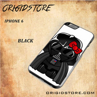 Anakin Skywalker Darth Vader Hello Kitty Star Wars Black White Snap On 3D For Iphone 6 Case
