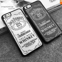 Cool Silver Black Daniels Whiskey Luxury Mirror Case For iphone 5 5S 6 6 Plus Hard plastic phone case