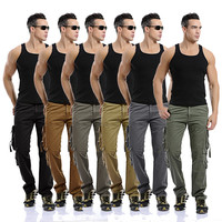 Hot Sale Korean Plus Size Men's Fashion With Pocket Rinsed Denim Men Cotton Pants [6541739843]