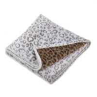Double Sided Soft Leopard Throw Blanket