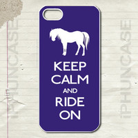 Kick Calm Ride On Horseback Polo Riding Horse Cute Animal Purple Case <<>> Apple iPhone 4, iPhone 4S, iPhone 5, iPhone 5S & iPhone 5C Cases