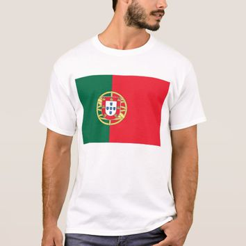 T Shirt with Flag of Portugal