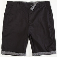 Lira Bedford Mens Shorts Black  In Sizes
