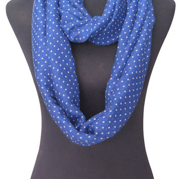 Fashion Polka Dot Print Infinity Loop Scarf Women's Accessories, Free Shipping