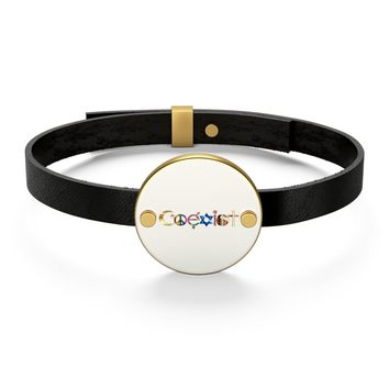 The Law of Attraction COEXIST Leather Bracelet