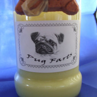 Pug Farts Candle in a Recycled Liquor Bottle - 10oz