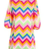Missoni Chevron zig zag Dress with Zipper Great spring summer colors mothers day
