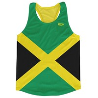 Jamaica Country Flag Running Tank Top Racerback Track and Cross Country Singlet Jersey