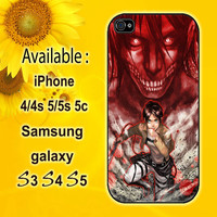 attack on titan 3 custom design hard plastic available for iphone 4/4s,5/5s/5c and samsung galaxy S3/S4/S5 case