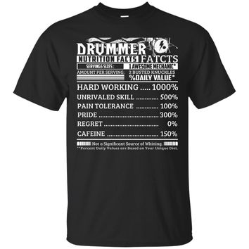 Drummer Nutrition Facts Engineer Drummer Christmas Gift Shirt