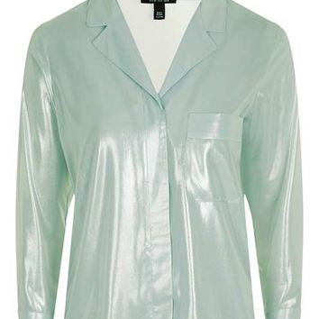 Metallic Pyjama Shirt - Clothing