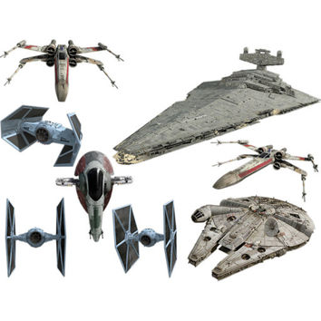 Star Wars Spaceships Fathead Set