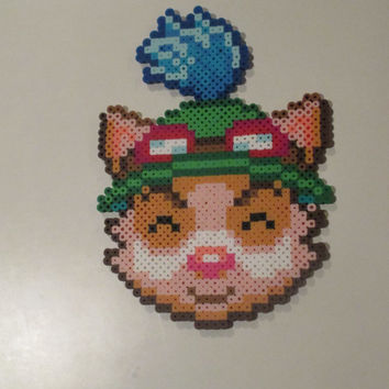 League of Legends Inspired Teemo Perler Bead Sprite Magnet or Wall Decor