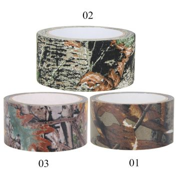 10m Waterproof Dead Leaves Camo Cloth tape Gun Hunting Outdoor Camping Camouflage Stealth Tape Wrap for Hunting Gun Accessories